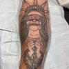 刺青★不自由の女神(腕)筋彫り!の画像