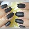 matt BLACK nailの画像