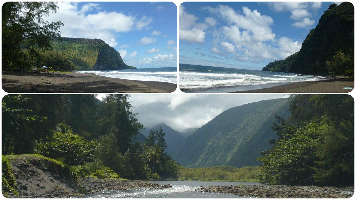 ハワイ島ワイピオ渓谷入り江