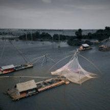 カンボジアの水上生活…