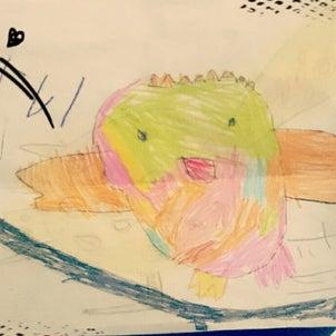 虹色のきれいなフクロウの画像