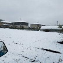初雪降りましたね