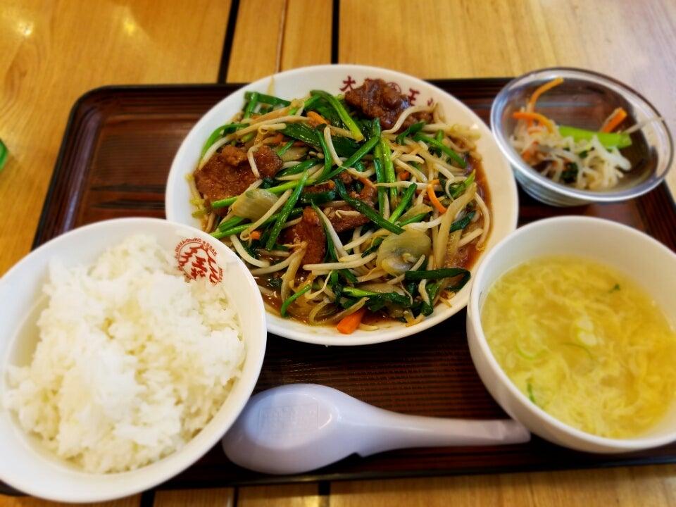 大阪王将と餃子の王将のレバニラ定食