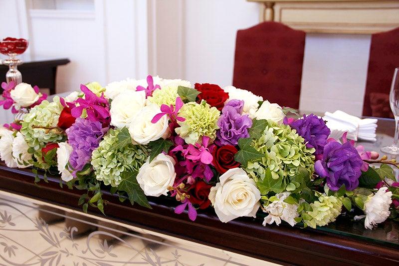 なんと、ポポのお花、108本の赤いバラでプロポーズしてくださった新郎さま!