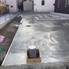 外構土間下地モルタル打ち完了です。 京都市北区大宮 新築注文住宅の画像