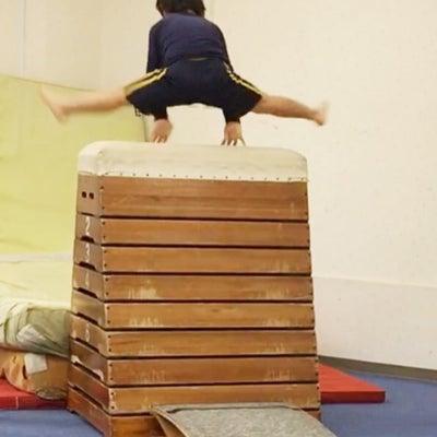 5歳 うんてい出来た日 飛び箱10段挑戦中 習い事の記録の記事に添付されている画像