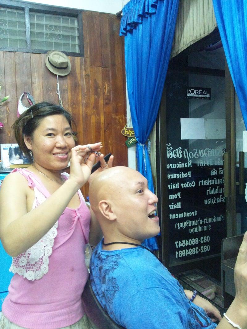 ノン先生のお友達☆ヌアンさんの理髪店に行こう♪16
