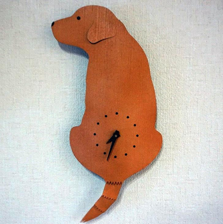 藤井さんのこの時計(猫も犬の何種類かある)は、大人気で、注文してもかなり待つと知っていたので、2カ月は早いほうだと思います。