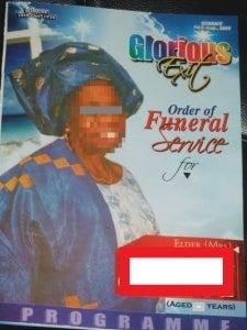 funeral book mosaic