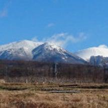 寒空に浮かぶ浅間山