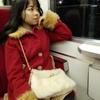 昭和の電車に乗っての画像