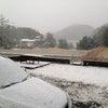 今シーズン初雪の画像