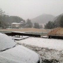 今シーズン初雪