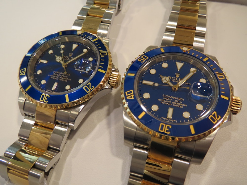the latest 39549 54ed0 ロレックス 新旧 【青サブ】 あなたはどちらが好みですか ...