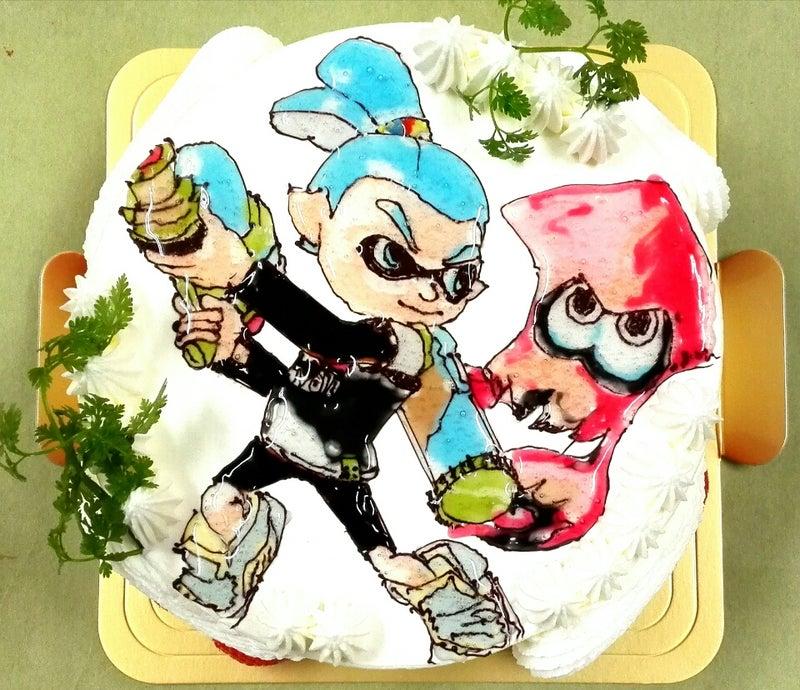 イラストキャラクターケーキスプラトゥーンです 岐阜市の洋菓子 パティスリー旬菓のブログ