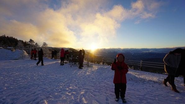 冬の美ヶ原、大雪原