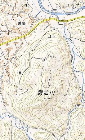 【地図】愛宕山
