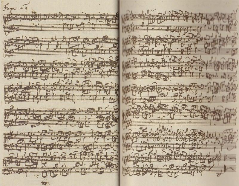 バッハの自筆譜   J.A.Ludwigの...