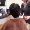 花嫁様ショートヘアアレンジの画像
