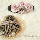 今までにない大きさの薔薇、つぼみ付きプリンセスのブローチはボリューム満点です。の記事より