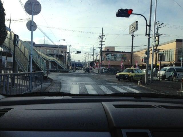 北豊島中学校前にて 北大阪ペーパードライバー