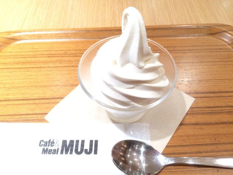MUJIカフェのソフトクリームめちゃうまです!