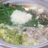 鶏と冬野菜の雪見鍋の画像