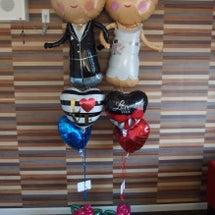 結婚お祝いのバルーン…