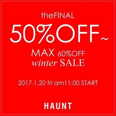 [THE FINAL WINTER SALE ] 50%OFF〜 開催中!!の記事に添付されている画像