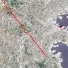 GPS地上絵28「ちょっくんその8・GONORTHWEST北西へ」(GPS drawing)の画像