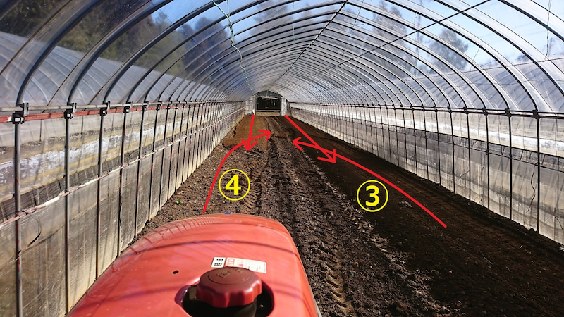 耕し 方 図解 トラクター