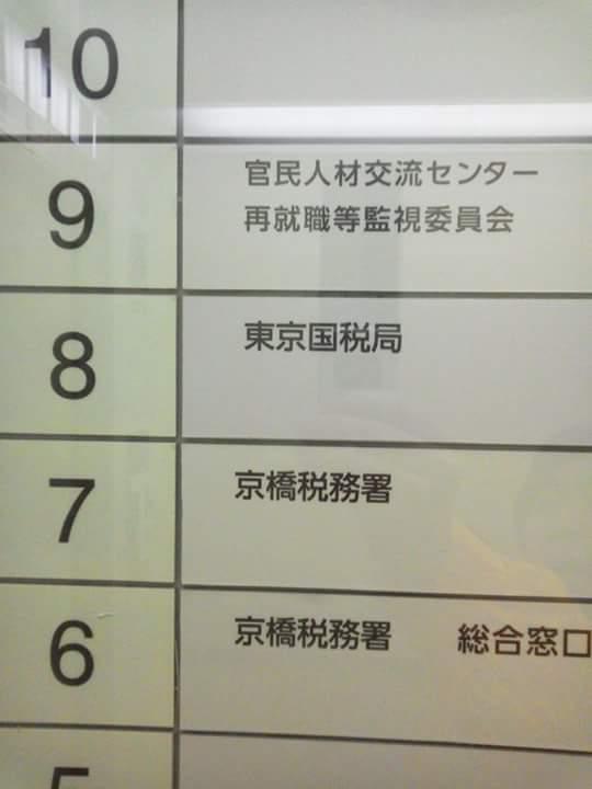 大手町にある京橋税務署 その上階には おどる法一 雑記帳