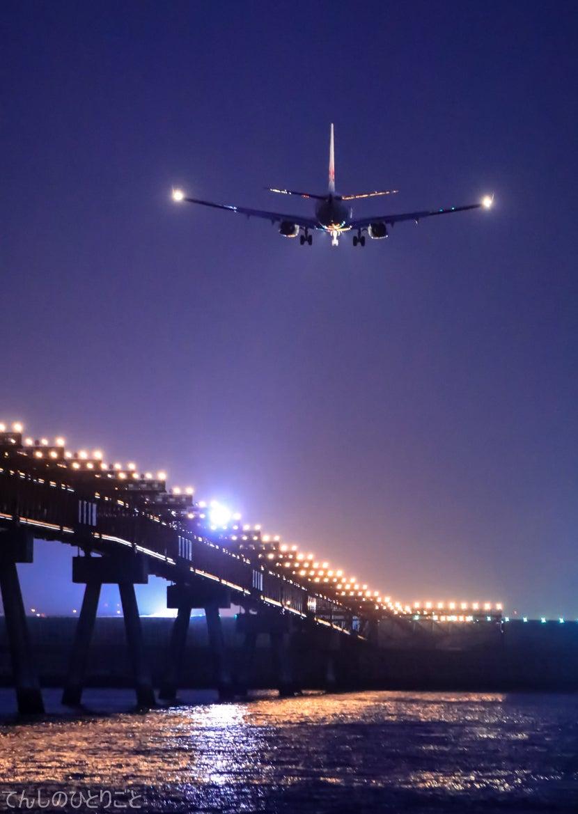 てんしのひとりごと夜の着陸コメント