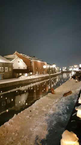雪あかり運河会場