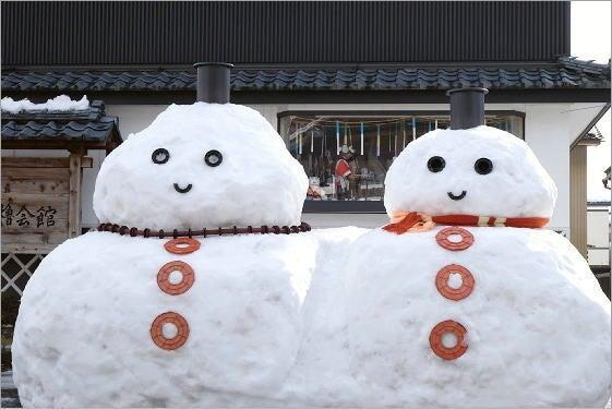 勝山歳の市の雪だるま