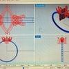 マーキスカット(縦タイプ)とラウンドカットのリングの画像