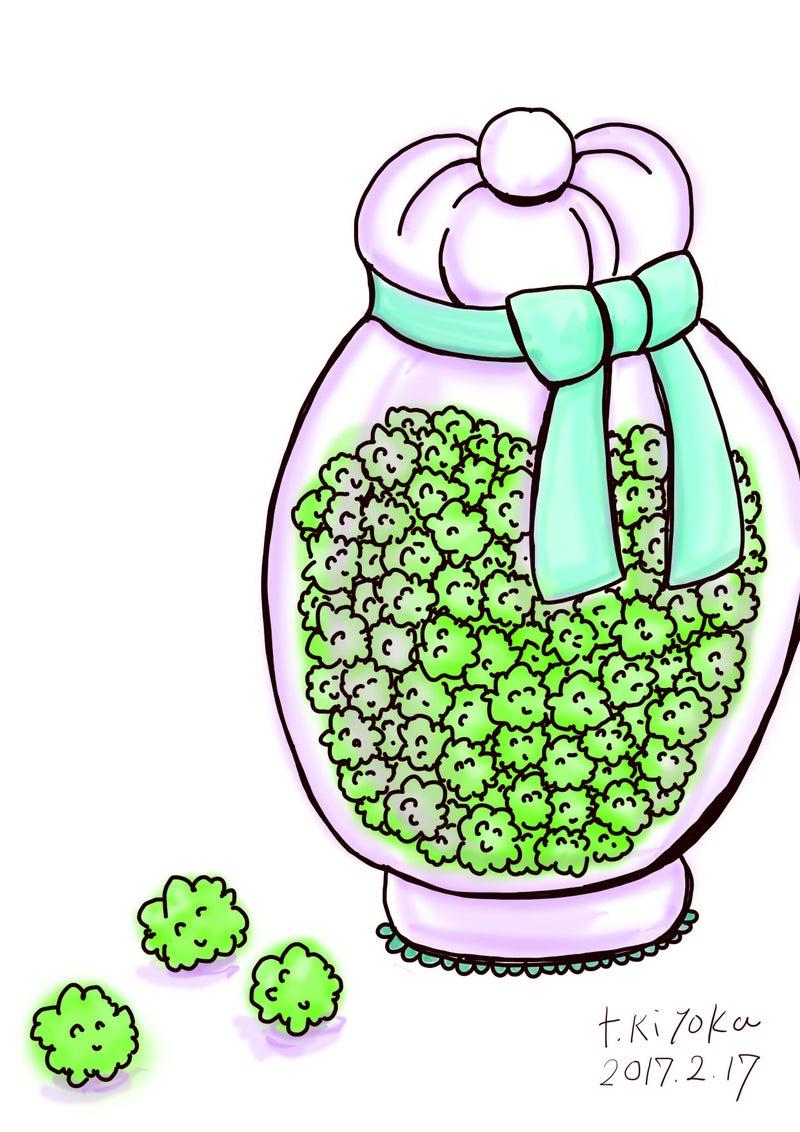 メロンの金平糖 イラスト 田中 清加 お花と刺繡