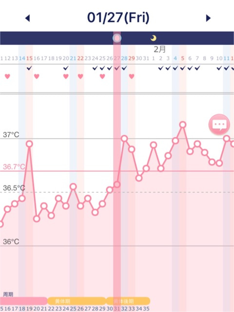 高温期24日目