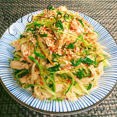 ヘルシーダイエット飯♡ささみと水菜と長ネギの旨辛ナムルの記事に添付されている画像