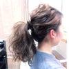 ヘアメイクリハーサル〜波ウエーブのまとめ髪の画像
