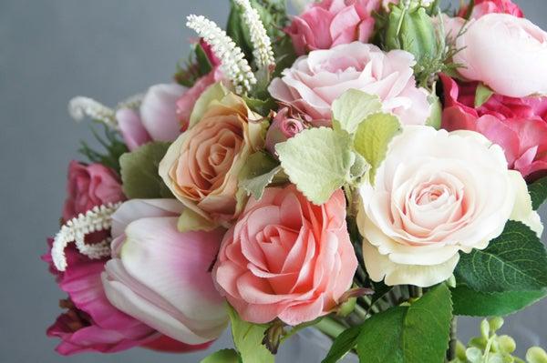 バラ チューリップ 造花