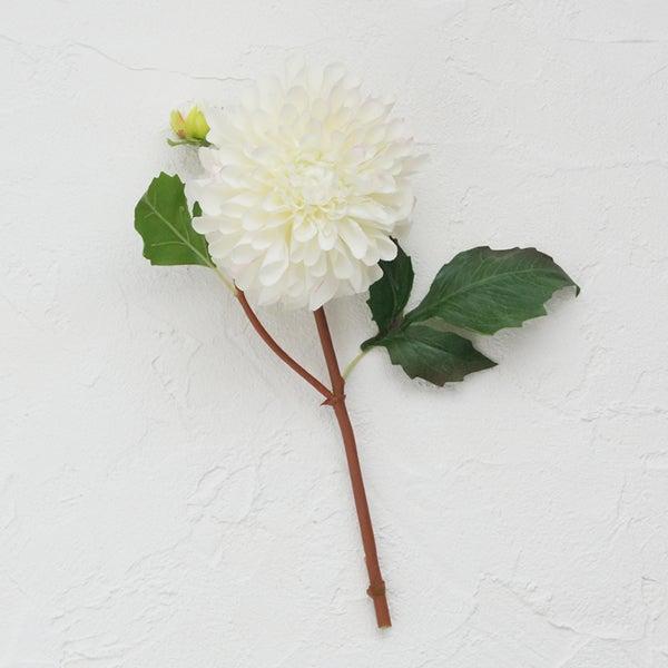 白 ダリア 造花 床の間