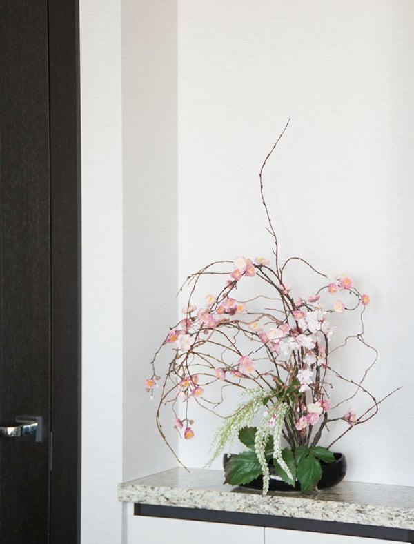 いけばなアートフラワー 梅 造花 和風