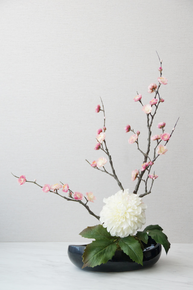 梅 造花 アートフラワー 和室