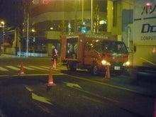 深夜の連結送水管耐圧試験
