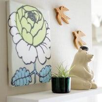 100均材料でできるファブリックパネルの作り方。春色marimekkoヴィヒキルの記事に添付されている画像