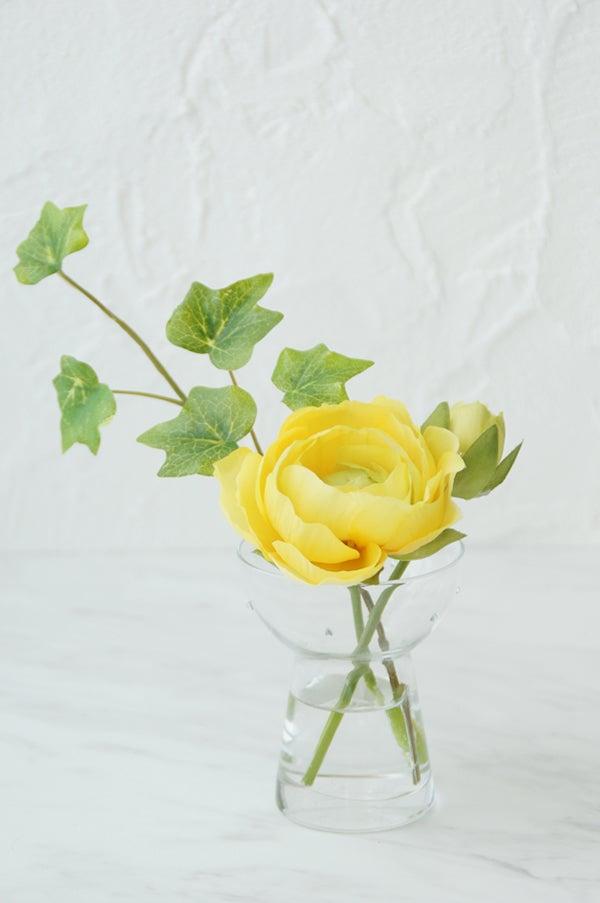 造花 ラナンキュラス 一輪挿し 手のひらサイズ
