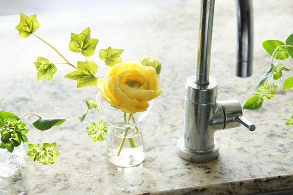 造花 キッチン 飾る 人工水