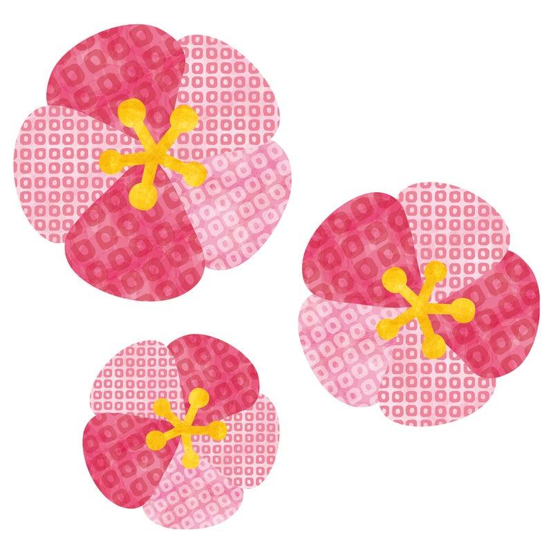 和柄の梅桜 Rkrkのイラスト好きなこといろいろ