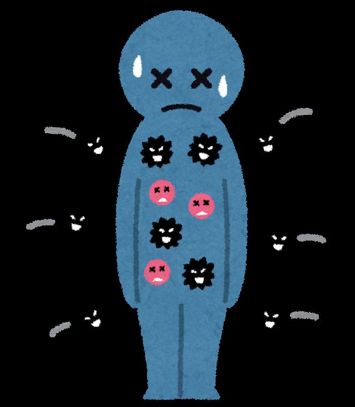 免疫力が弱っている人